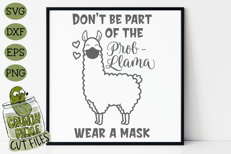 LLama Wear A Mask SVG Cut File