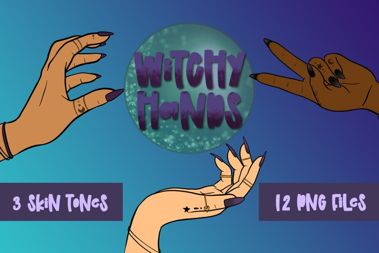 Witchy Hands  Magical Hands  Witch Clipart   PNG