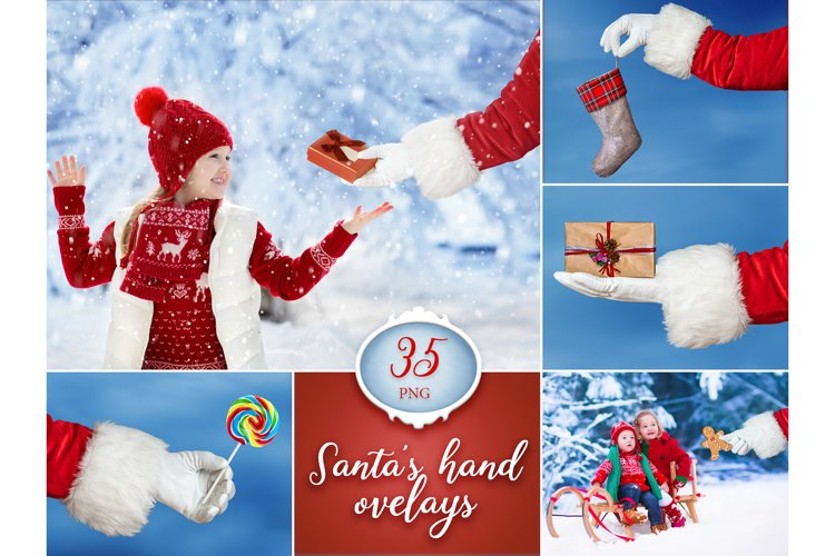 35 Santa Claus Hand Overlays example image 1