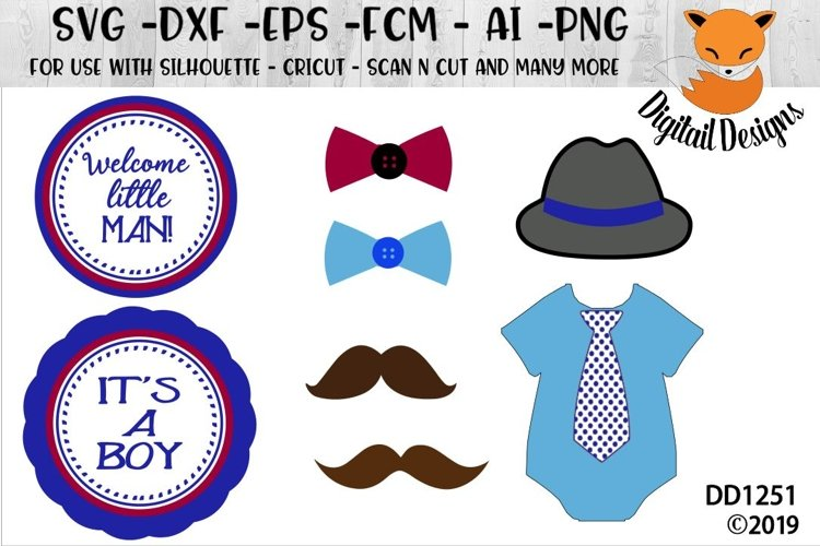 Baby Shower Photo Booth Props / Centerpiece SVG example image 1