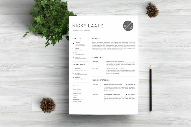 Clean Resume Template - Simple & Professional CV Template example image 1
