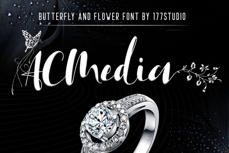 Acmedia Butterflies and Flowers Font example image 1