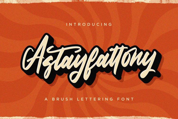 Astayfattony - Handwritten Font example image 1