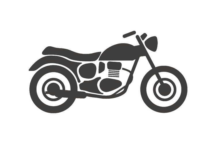 Motorcycle icon, Motorbike icon. Vector Illustration example image 1
