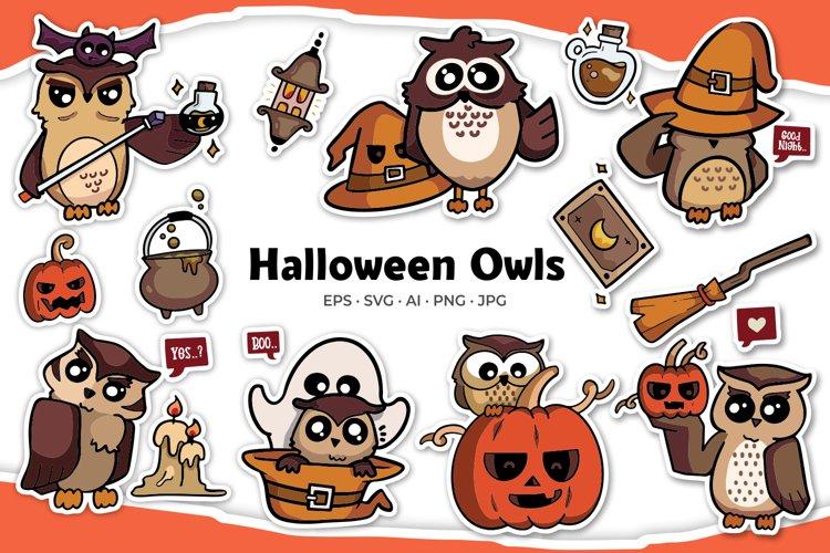 Halloween Owl Illustrations