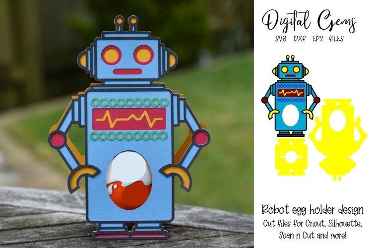 Robot Easter egg holder design SVG / DXF / EPS files. example image 1