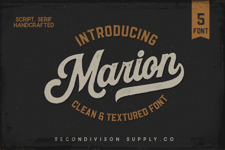 Marion 5 Font example image 1