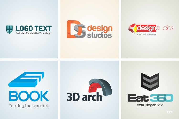 Modern Logo Design Template Set 17 example image 1