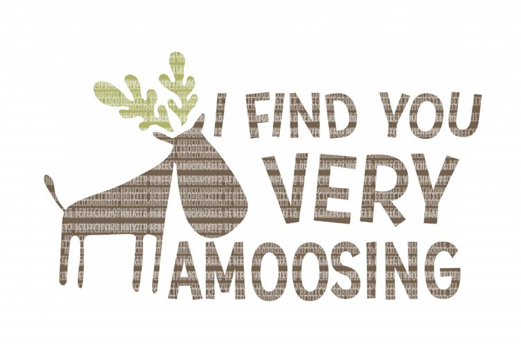 I Find you Very Amoosing SVG Files for Silhouette and Cricut Design Space Christmas Cut File Printable Transfer Decal DXF Commercial Use example image 1