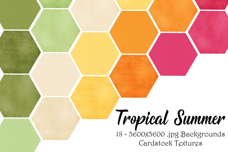 Tropical Summer Texture Digital Backgrounds example image 1