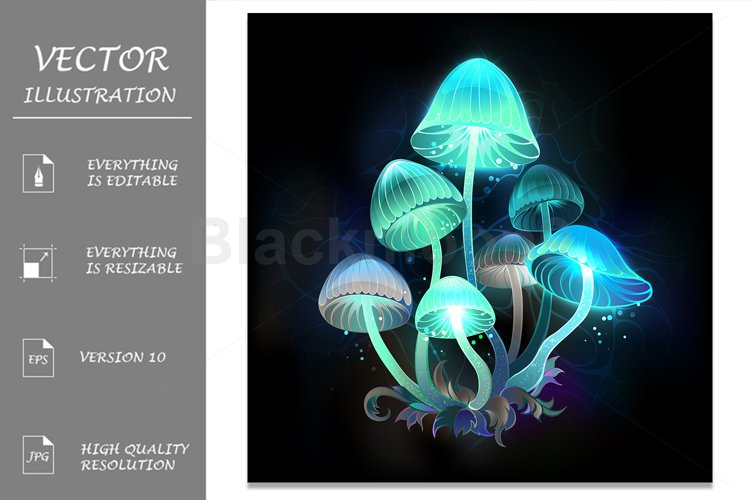 Glowing Blue Toadstools example image 1