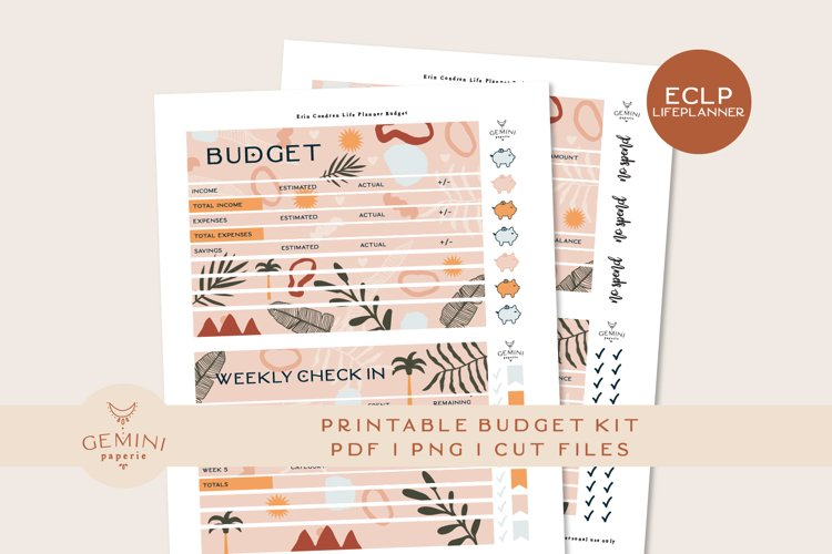 Erin Condren Printable Budget Planner Sticker Kit