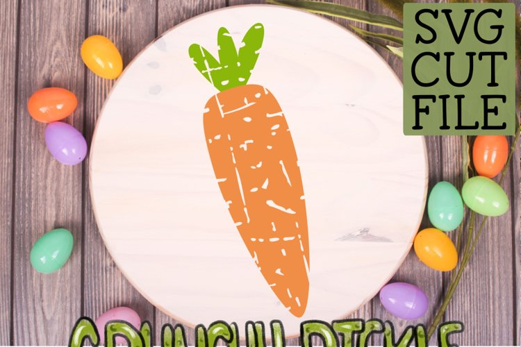Plaid & Grunge Carrot Easter / Spring SVG Cut File example 3
