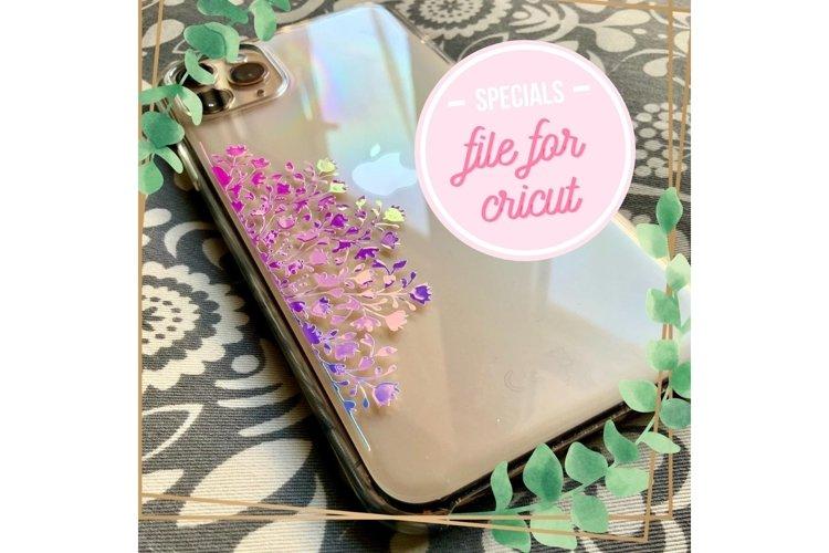 Cricut Holographic opal vinyl phone case cover file project