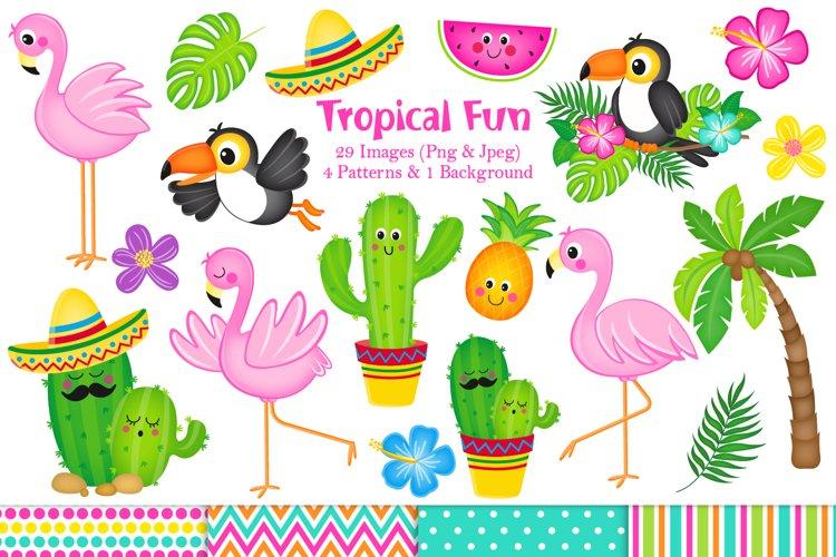 Flamingo clipart, Flamingo graphics & Illustrations, Cactus