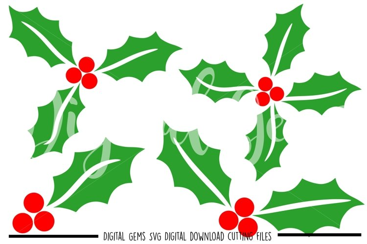 Holly SVG / PNG / EPS / DXF files example image 1