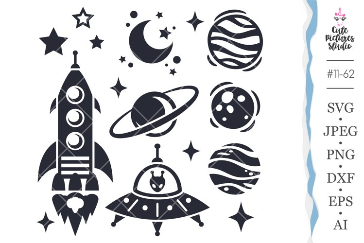 Space SVG bundle, Space Cricut svg files, Planet Cricut svg