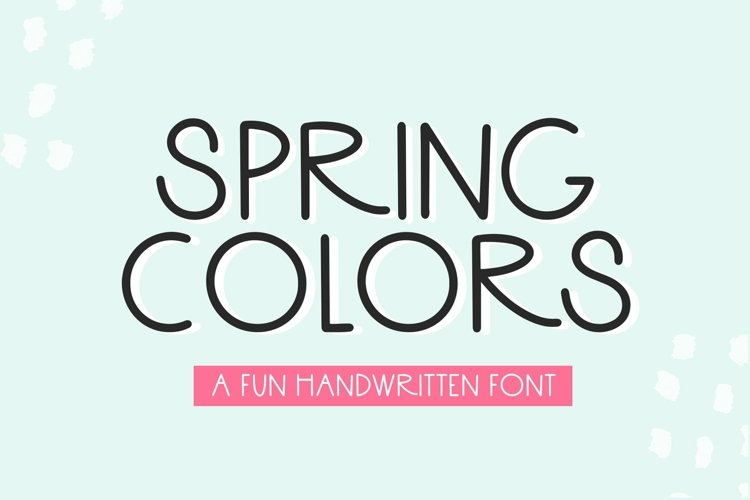 Web Font Spring Colors - A Fun Handwritten Font example image 1