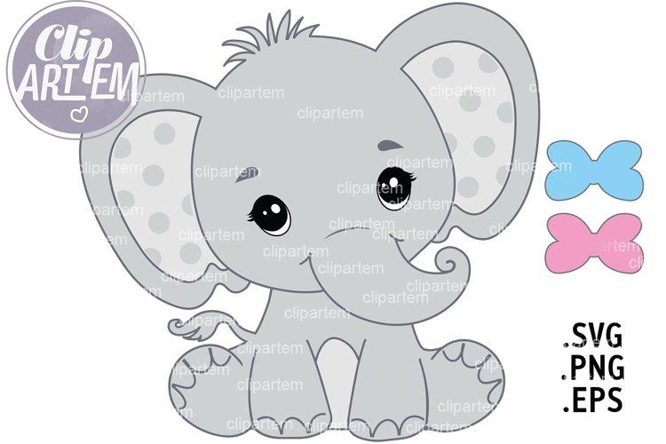 Elephant Boy or Girl SVG PNG EPS vector baby clip art