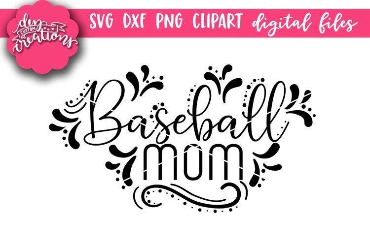 Baseball Mom - SVG DXF PNG digital Cut Files example image 1