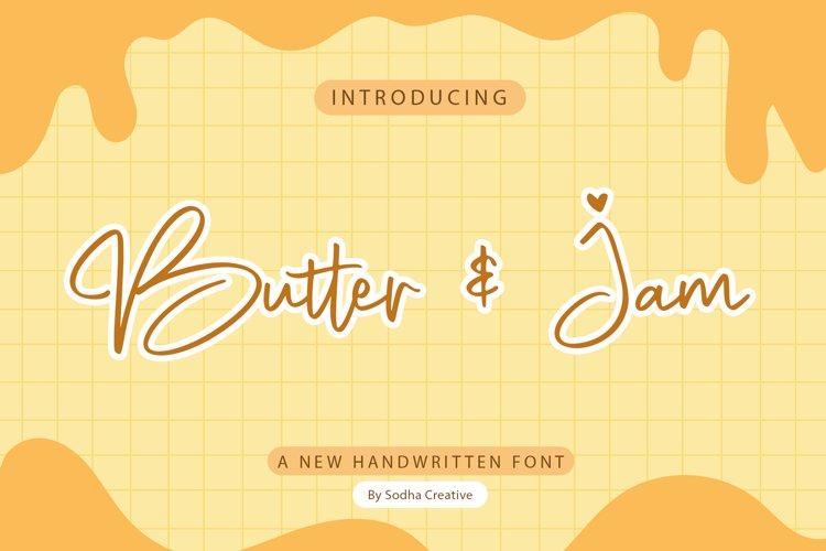 Butter & Jam - Handwritten Font example image 1