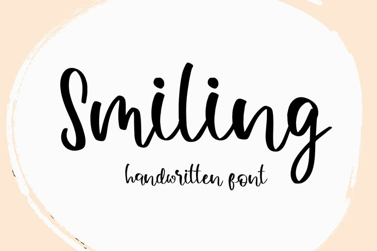 Smiling Beauty Handwritten Font example image 1