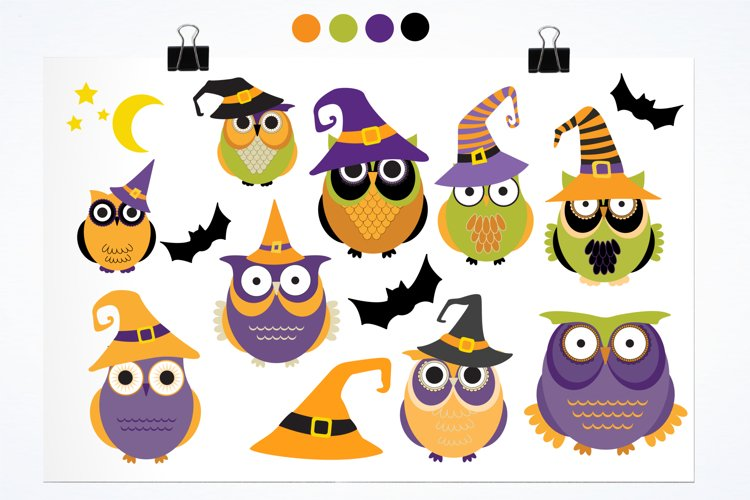 Halloween Owls graphics and illustrations - Free Design of The Week Design0