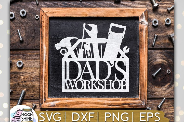 Dad's Workshop SVG DXF PNG EPS Cutting Files example image 1