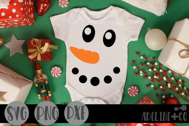 Snowman face, SVG, PNG, DXF