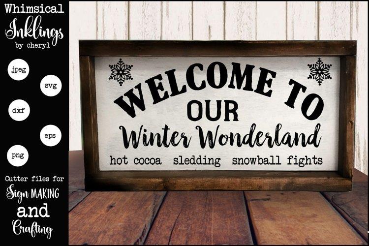 Winter Wonderland Version 2 SVG example image 1