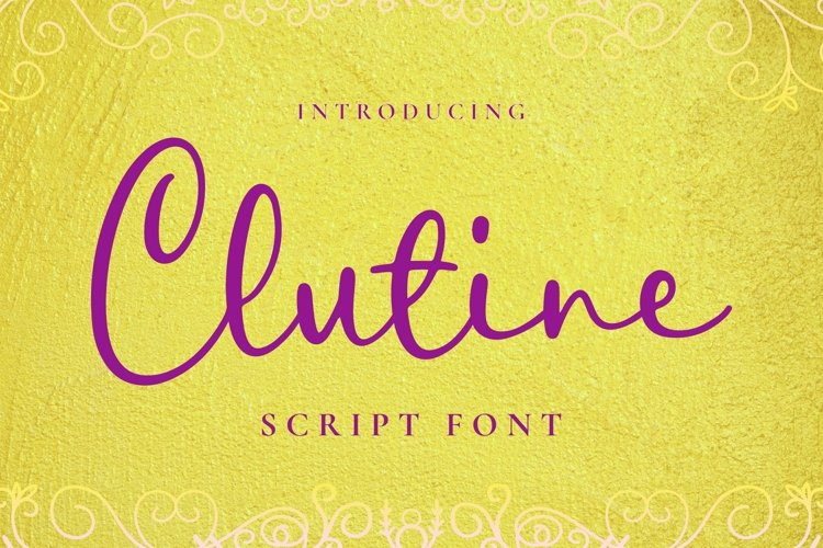Web Font Clutine Font example image 1