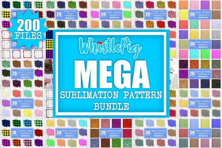 The Whistlepig MEGA Sublimation Bundle Sublimation Pattern