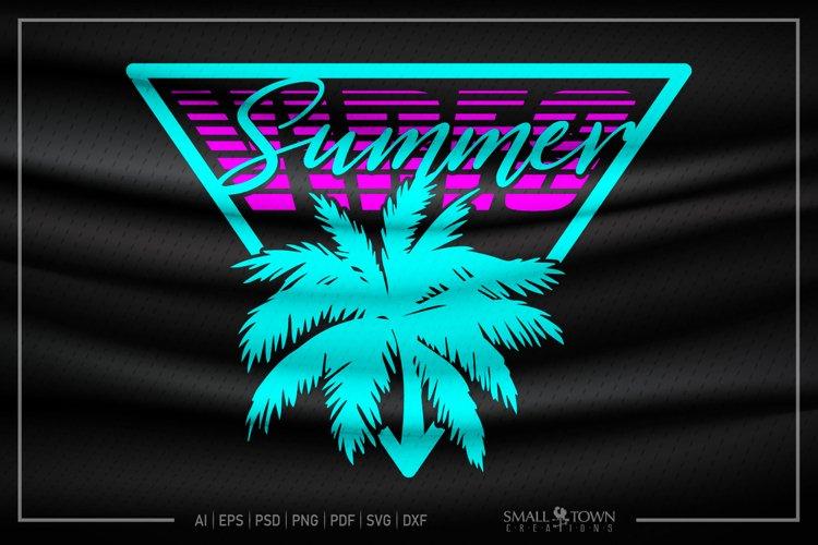 Summer, Palm Tree, Summer Vibes SVG, Summer SVG