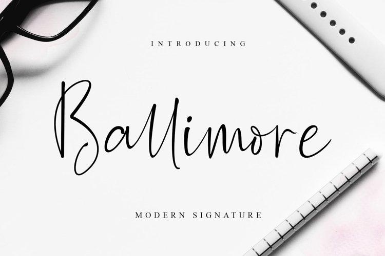 Ballimore - Modern Signature example image 1