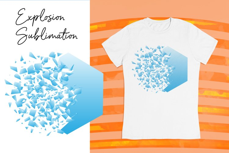 Sublimation background. T shirt design with explosion effect
