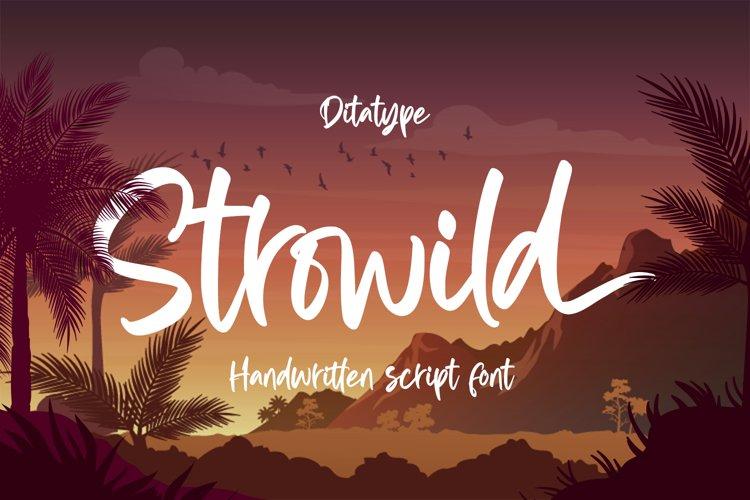 Strowild-Modern Handwritten Font example image 1
