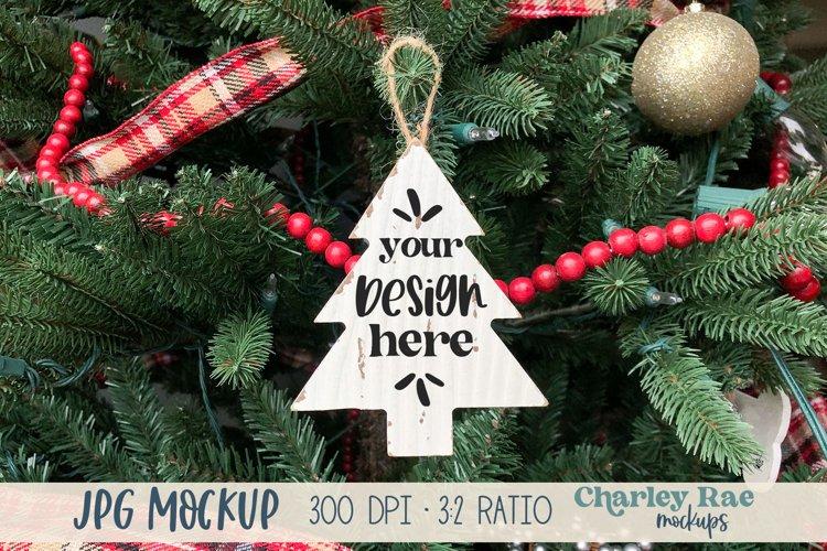 Tree Ornament Whitewashed Mock Up, Realistic Mockup