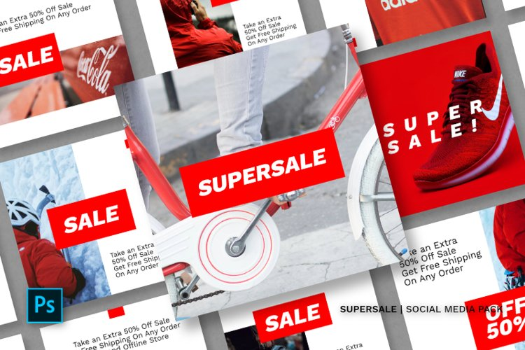 Supersale Social Media Pack example image 1