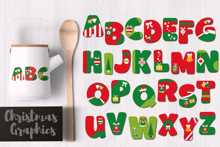 Christmas Alphabet Letters Graphics example image 1