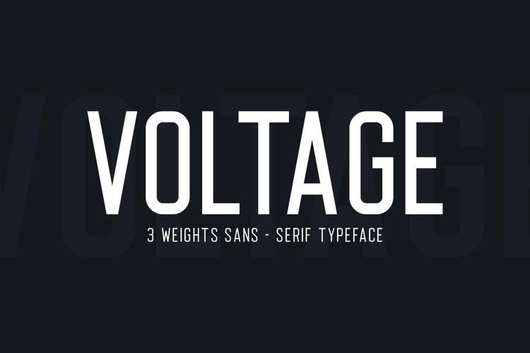 Voltage Sans Serif example image 1