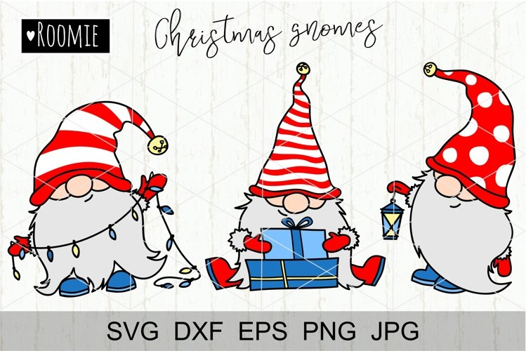 Christmas gnomes svg Scandinavian New year Winter Elf vector