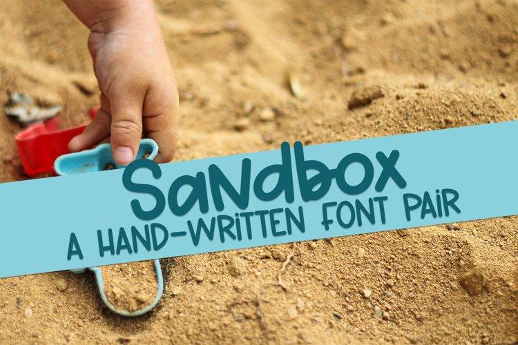 Sandbox - A Hand-Written Font Pair