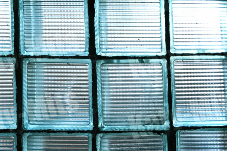Old decorative biscay green glass blocks example image 1
