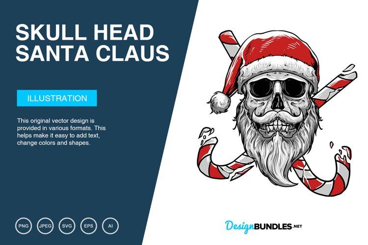 Skull Head Santa Claus Vector Illustration example image 1