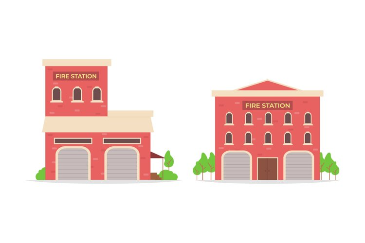 Fire Station Illustrations example image 1
