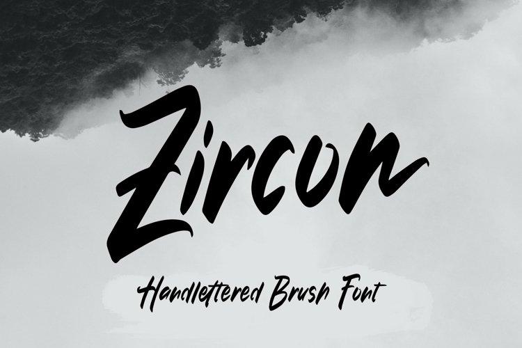 Web Font Zircon - Handlettered Brush Font example image 1