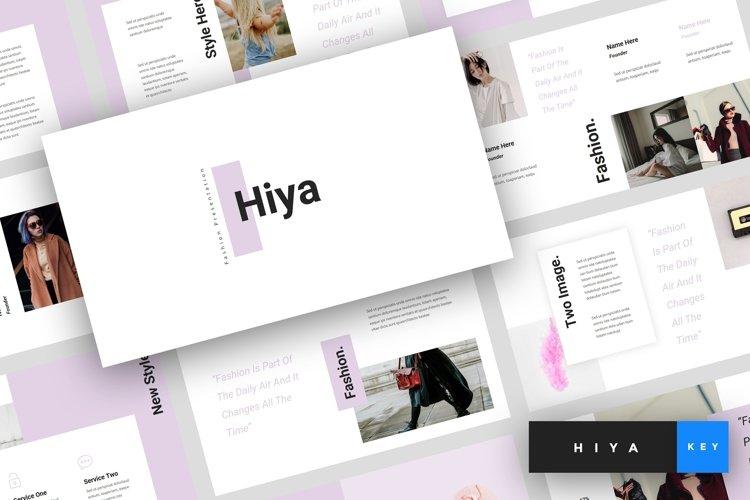 Hiya - Fashion Keynote Template example image 1