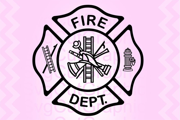 Fire Department Svg Files, Fire Dept Svg Sign, Cricut Files example image 1
