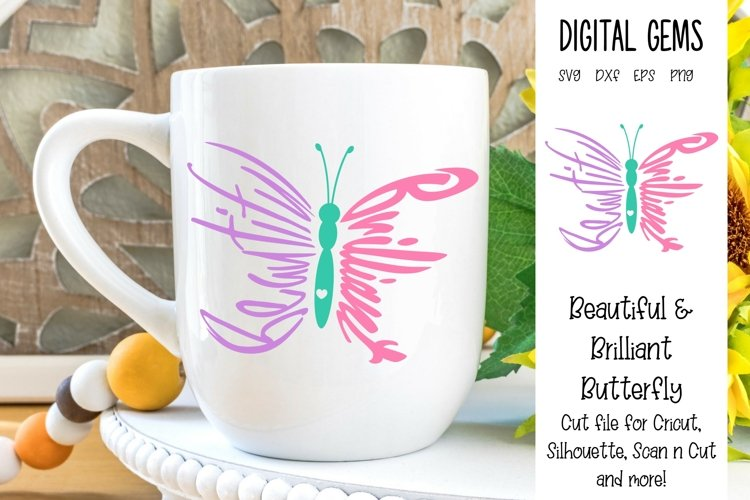 Butterfly, Beautiful and Brilliant design SVG / DXF / PNG