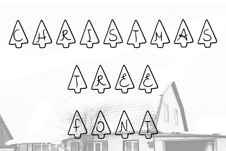 Christmas tree font in ttf, otf example image 1